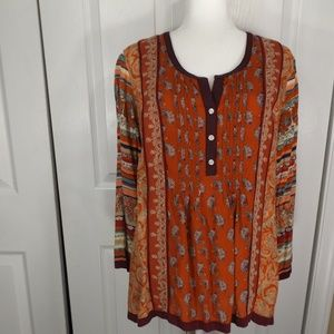 Lucky Brand Paisley Designs in Fall Colors L